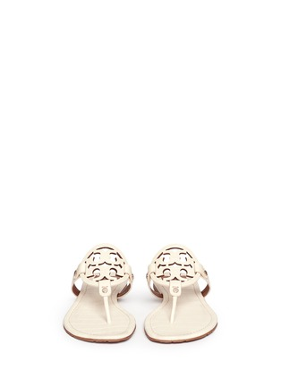 Figure View - Click To Enlarge - Tory Burch - 'Miller' crocodile print thong sandals