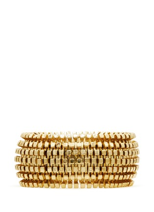 Main View - Click To Enlarge - Kenneth Jay Lane - Metal weave thick elastic bracelet