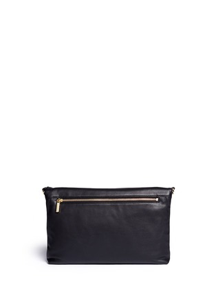 TORY BURCH - 'Bombe' foldover leather crossbody clutch