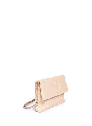 Detail View - Click To Enlarge - Tory Burch - 'Bombe' foldover leather crossbody clutch