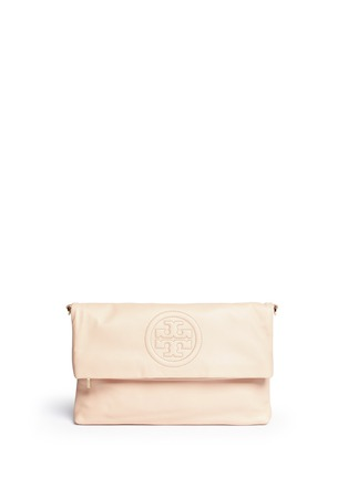 Main View - Click To Enlarge - Tory Burch - 'Bombe' foldover leather crossbody clutch
