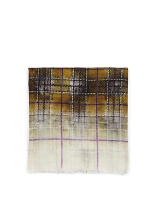 Main View - Click To Enlarge - Franco Ferrari - Tartan silk and wool double face loop scarf