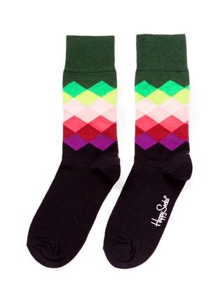 Main View - Click To Enlarge - Happy Socks - Faded diamond socks