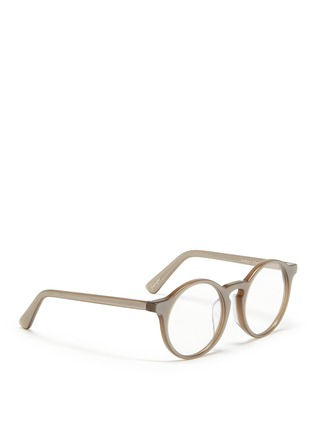 Figure View - Click To Enlarge - SUNDAY SOMEWHERE - 'Matahari' clip-on wire rim round mirror sunglasses