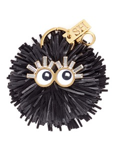 Sophie Hulme 'Leonard' leather pompom monster keyring