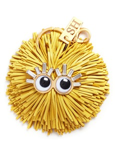 Sophie Hulme 'Scout' leather pompom monster keyring