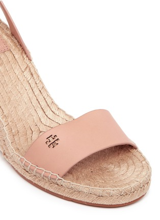 Detail View - Click To Enlarge - Tory Burch - 'Bima' leather espadrille wedge sandals