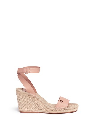 Main View - Click To Enlarge - Tory Burch - 'Bima' leather espadrille wedge sandals