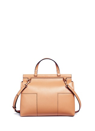 Detail View - Click To Enlarge - Tory Burch - 'Block-T' leather satchel