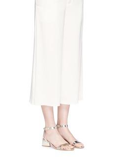 Tory Burch'Elizabeth 2' mirror leather sandals