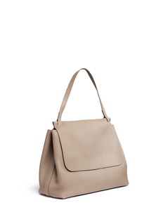 The Row 'Top Handle 14' large leather flap shoulder bag