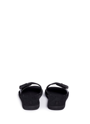 Back View - Click To Enlarge - Michael Kors - 'MK' logo perforated band rubber slide sandals