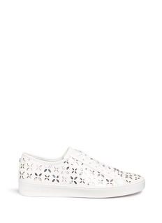 Michael Kors 'Keaton' floral lasercut perforated leather sneakers