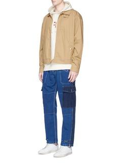Bleu De PanameWashed patchwork denim pants