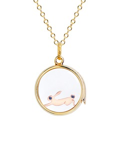 Loquet London 18k yellow gold sapphire Chinese New Year charm - Rabbit