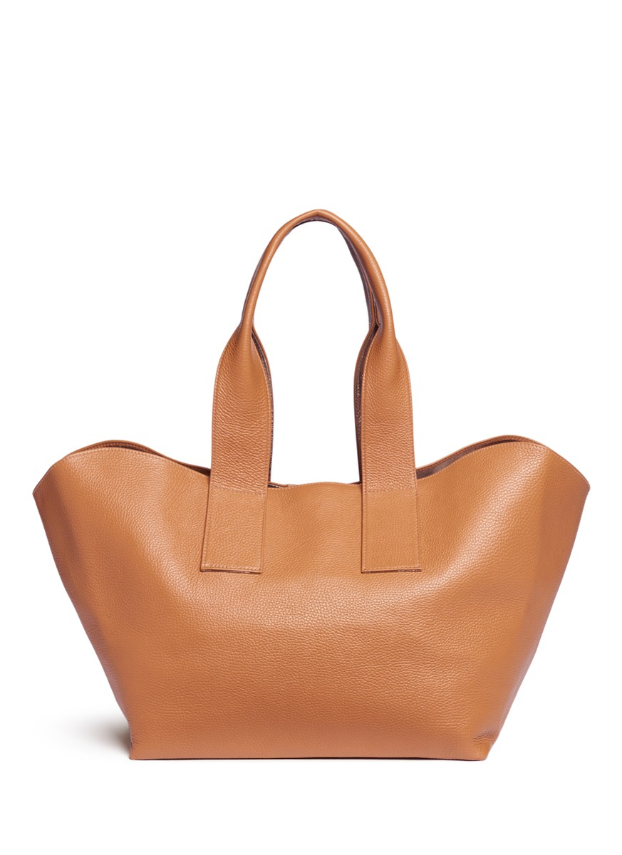 Carry All reversible nappa leather tote by A-Esque