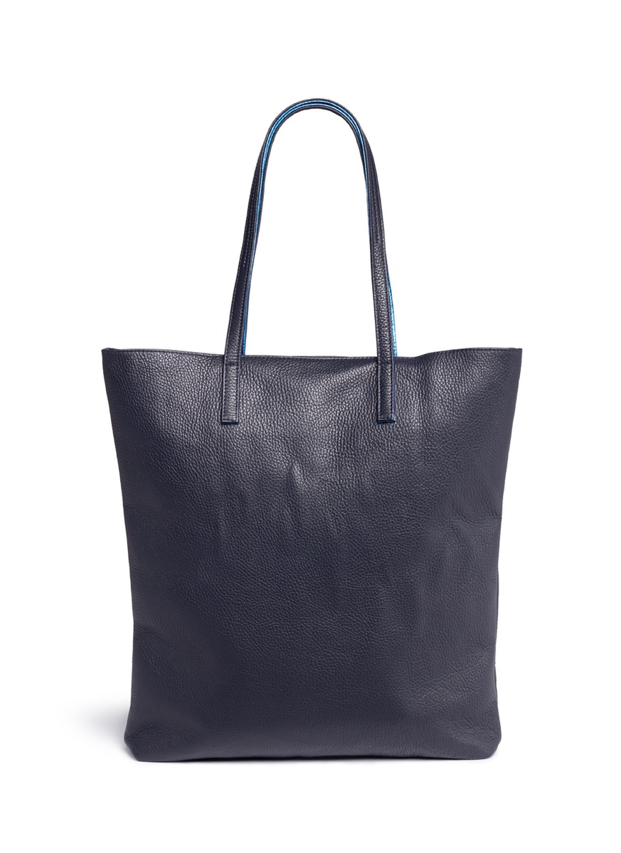 Simple 03 reversible leather tote by A-Esque