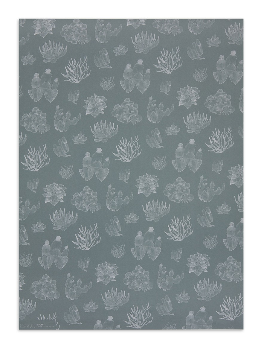 Cactus print wrapping paper by get.give