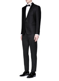 Dolce & Gabbana Ribbon trim twill tuxedo pants