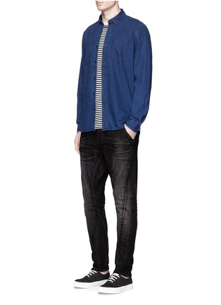 Figure View - Click To Enlarge - Denham - 'Tokyo Apex' 2-year wash carrot jeans