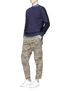 Denham'Nato' dragon camouflage print cargo pants