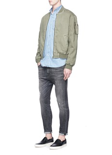 Denham'Apex' cotton twill bomber jacket