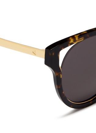 Detail View - Click To Enlarge - Stephane + Christian - 'Dali' inset metal rim tortoiseshell acetate sunglasses