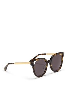 Stephane + Christian'Dali' inset metal rim tortoiseshell acetate sunglasses