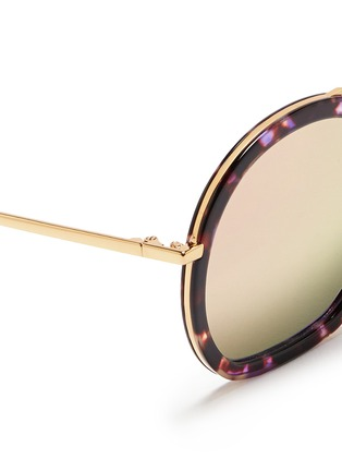 Detail View - Click To Enlarge - Stephane + Christian - 'Drugduck' tortoiseshell acetate insert metal mirror sunglasses