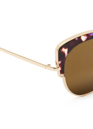 Detail View - Click To Enlarge - Stephane + Christian - 'Rococo' tortoiseshell acetate wire cat eye mirror sunglasses