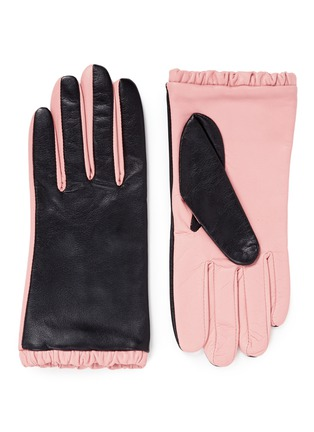 Main View - Click To Enlarge - Aristide - Colourblock lambskin leather short gloves