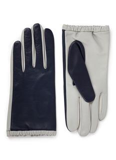 AristideColourblock lambskin leather short gloves