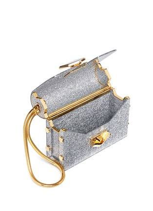 Detail View - Click To Enlarge - Jimmy Choo - 'Lockett' glitter acrylic clutch