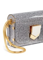 'Lockett' glitter acrylic clutch