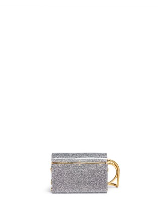 Back View - Click To Enlarge - Jimmy Choo - 'Lockett' glitter acrylic clutch