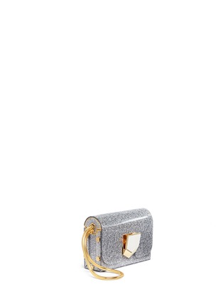 Front View - Click To Enlarge - Jimmy Choo - 'Lockett' glitter acrylic clutch