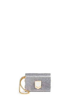 Main View - Click To Enlarge - Jimmy Choo - 'Lockett' glitter acrylic clutch