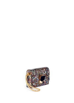 Front View - Click To Enlarge - Jimmy Choo - 'Lockett' confetti glitter acrylic clutch
