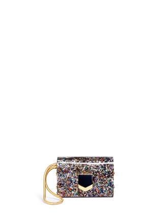 Main View - Click To Enlarge - Jimmy Choo - 'Lockett' confetti glitter acrylic clutch