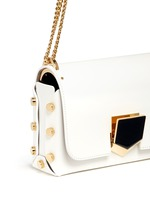 'Lockett Petite' curb chain leather shoulder bag