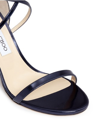 Detail View - Click To Enlarge - Jimmy Choo - 'Hesper 85' crisscross strap leather sandals