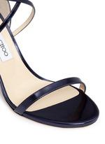 'Hesper 85' crisscross strap leather sandals