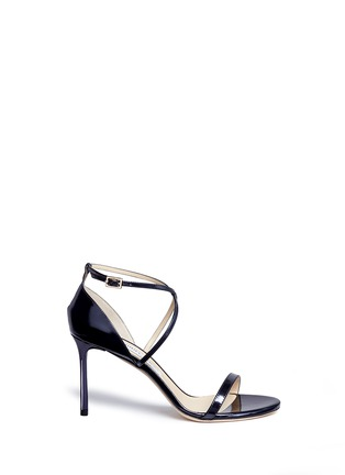 Main View - Click To Enlarge - Jimmy Choo - 'Hesper 85' crisscross strap leather sandals