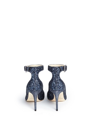 Back View - Click To Enlarge - Jimmy Choo - 'Helena' ankle strap coarse glitter pumps