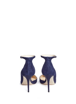 Back View - Click To Enlarge - Jimmy Choo - 'Lucy 85' ankle strap suede d'Orsay pumps