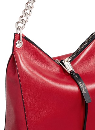 Detail View - Click To Enlarge - Jimmy Choo - 'Raven' small leather shoulder bag