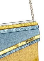 'Candy' glitter paillette acrylic clutch