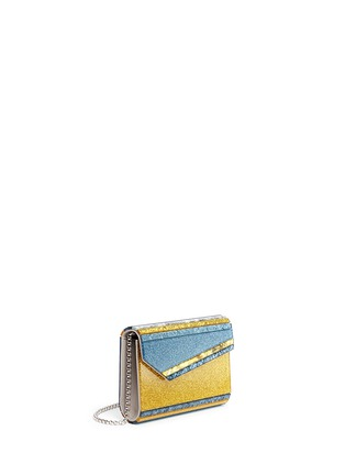 Front View - Click To Enlarge - Jimmy Choo - 'Candy' glitter paillette acrylic clutch