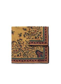 Drake ' SFlower print wool-silk pocket square