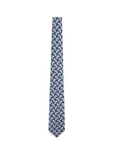 ISAIAPaisley print wool-silk hopsack tie